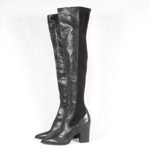 Sam Edelman Over The Knee Black Stretch Heel Boots